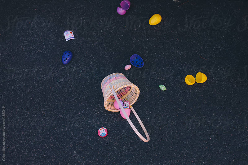 An Easter Basket Spilled on the Pavement by Gabrielle Lutze for Stocksy United