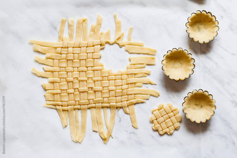 Cherry pie lattice by Viktorné Lupaneszku for Stocksy United