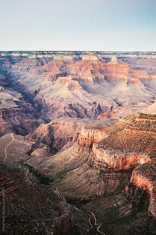 Grand Canyon at sunset, South Rim, Grand Canyon National Park, U by Peter Wey for Stocksy United