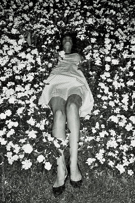 Flowers bed. by Nina Zivkovic for Stocksy United