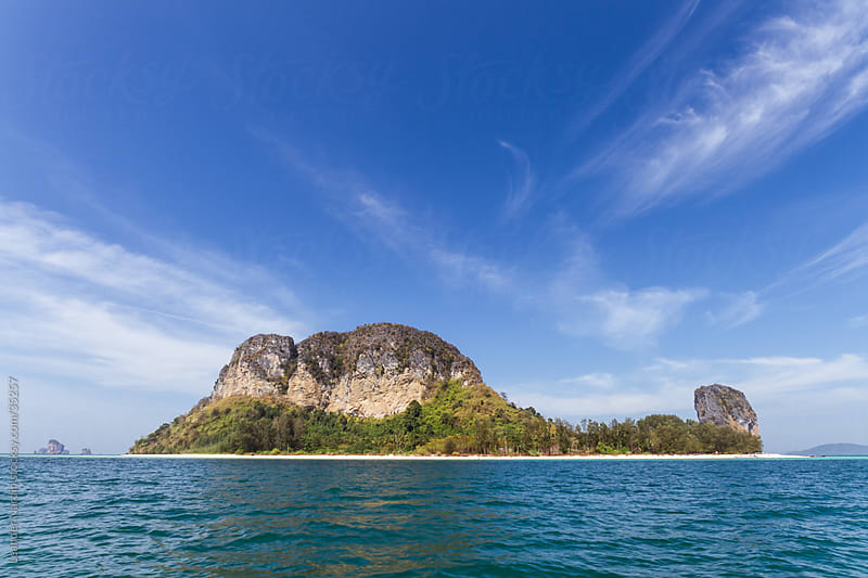 small island in the andaman sea by Leander Nardin for Stocksy United