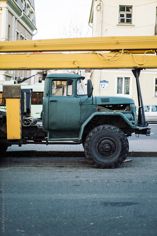 old truck on the street by Javier Pardina for Stocksy United