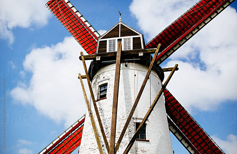 windmill in belgium by Dylan M Howell Photography for Stocksy United