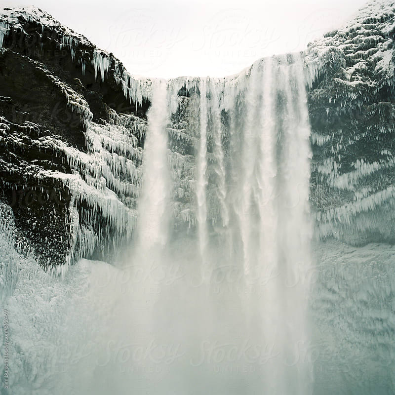 Skogafoss waterfall by Sam Burton for Stocksy United