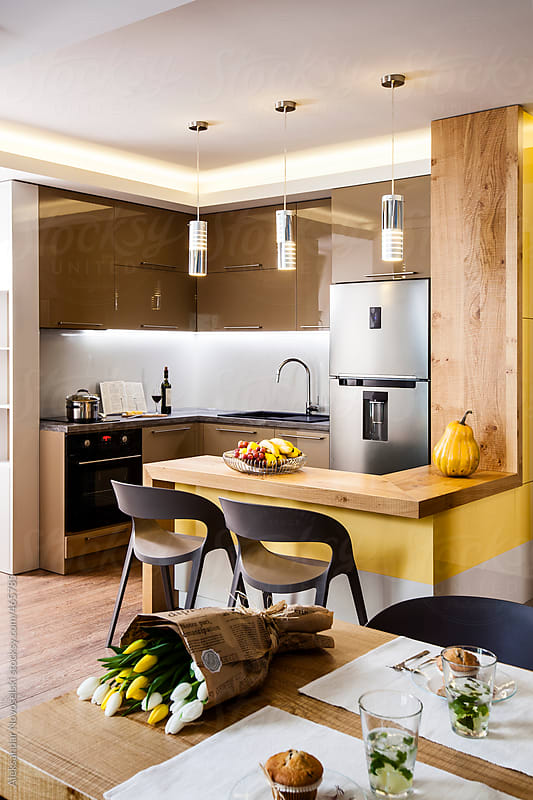 Contemporary kitchen by Aleksandar Novoselski for Stocksy United