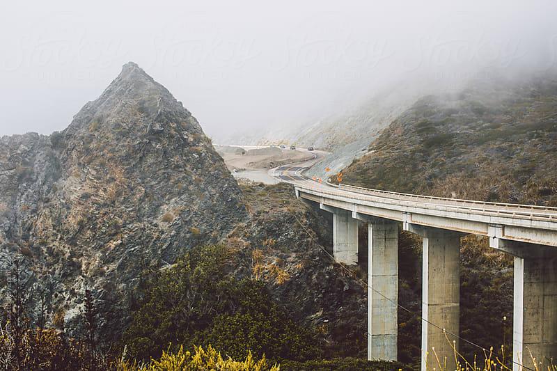 Bridge on the coastal highway in California by Ania Boniecka for Stocksy United