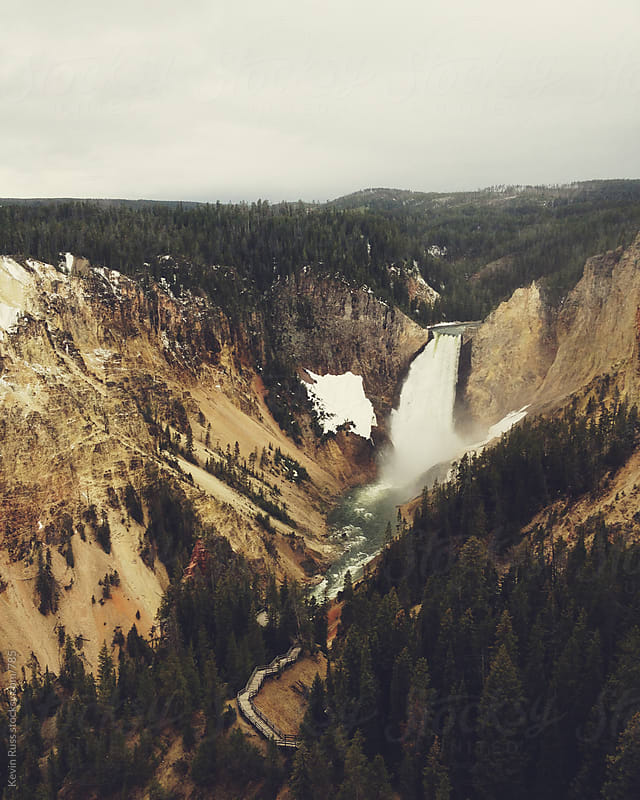 Yellowstone Falls by Kevin Russ for Stocksy United