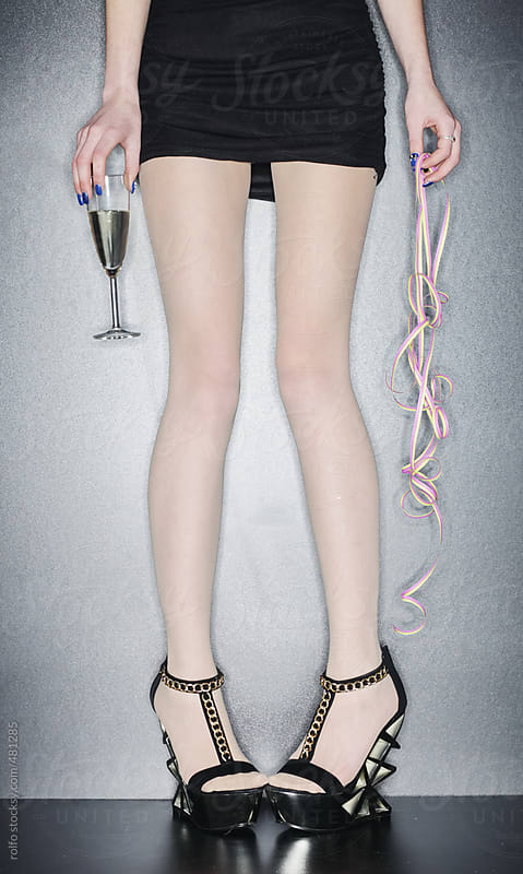 girl champagne legs by rolfo for Stocksy United