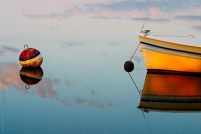 Boat at Mooring Cape Cod, Massachusetts by Raymond Forbes LLC for Stocksy United