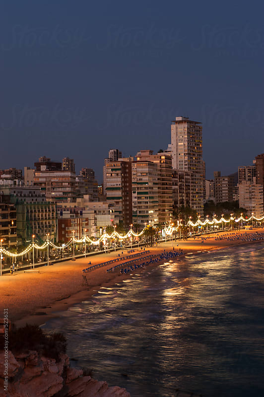 Benidorm Alicante playa de Levante  by Milles Studio for Stocksy United