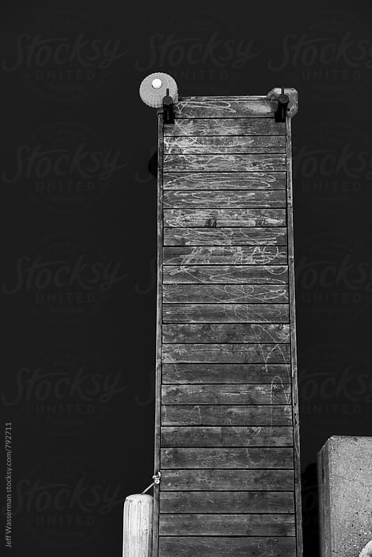 Wood Dock From Above by Jeff Wasserman for Stocksy United