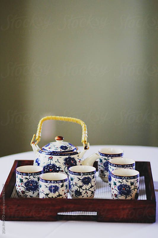 Chinese tea set by ZOA PHOTO for Stocksy United