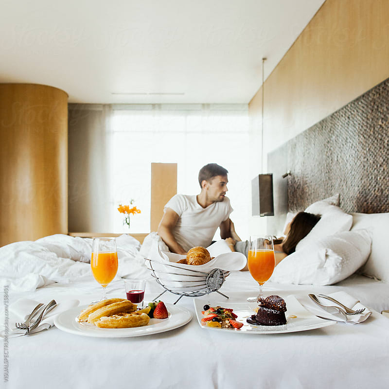 Breakfast For Two in Hotel Room by VISUALSPECTRUM for Stocksy United