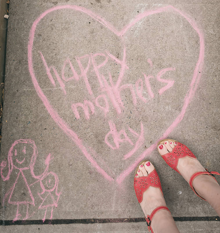 happy mother's day sign in chalk, May 13 2018 in Canada, USA, Australia, NZ, South Africa and ...  by Gillian Vann for Stocksy United