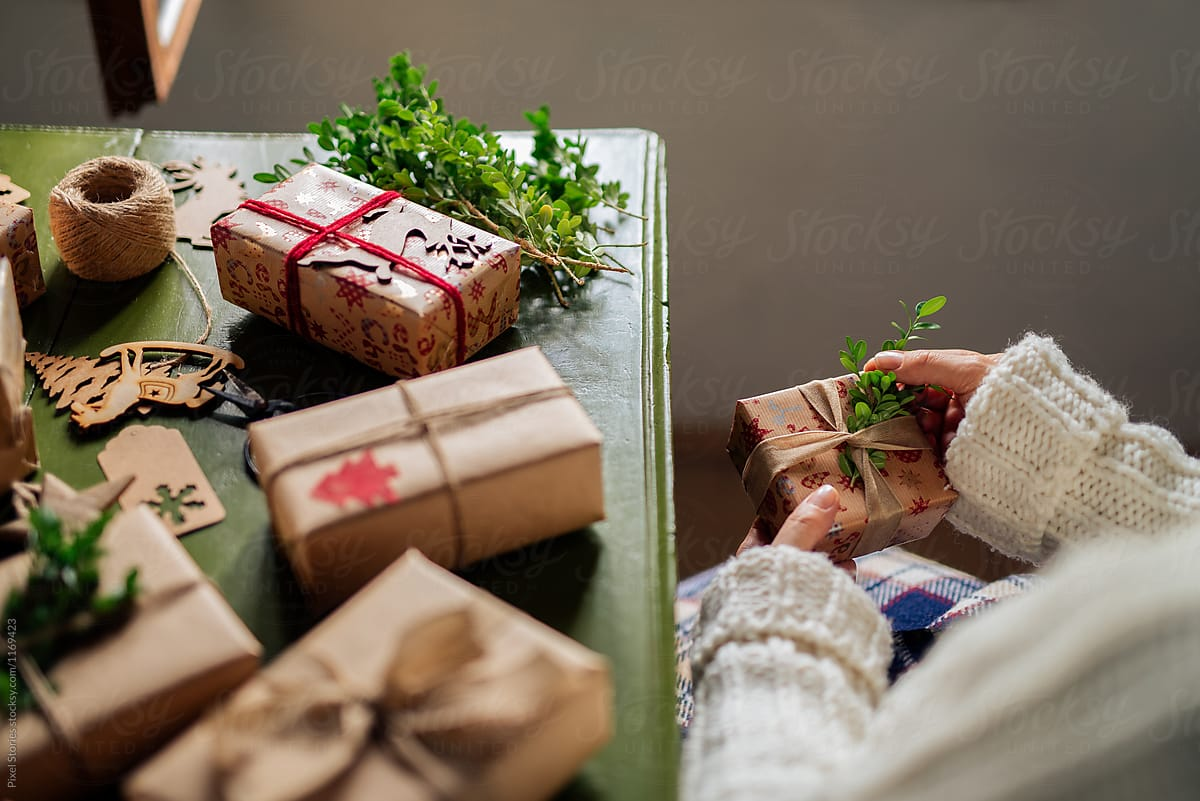 Woman Making Christmas Gifts | Stocksy United