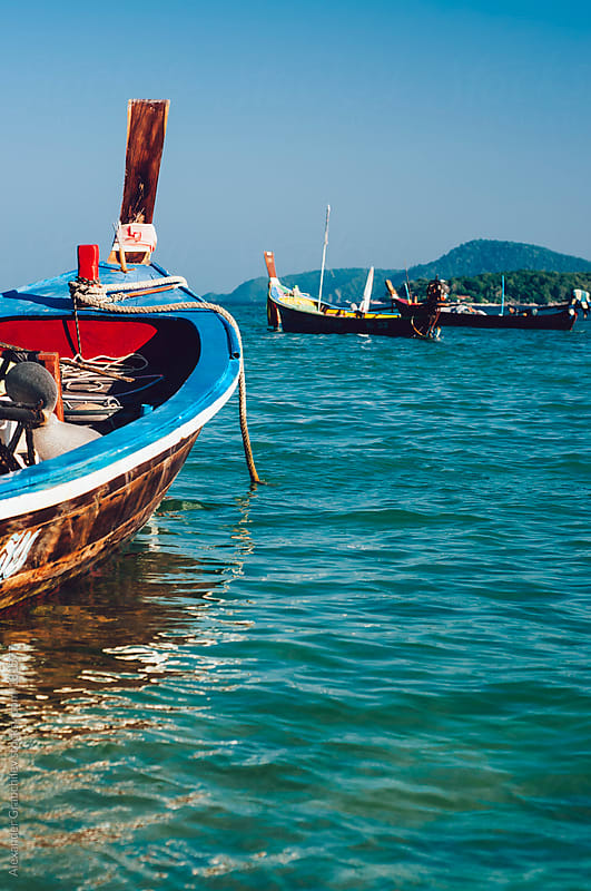 Thai Fishing Boats by Alexander Grabchilev for Stocksy United