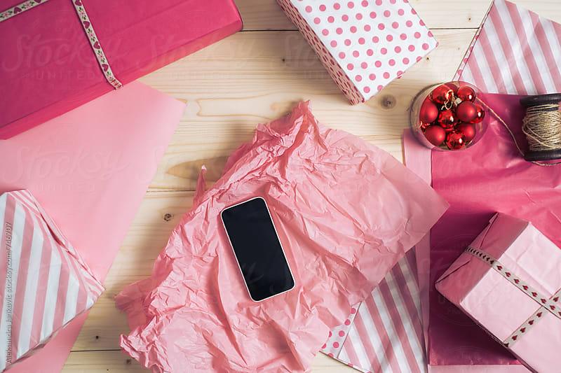 Smartphone as a Christmas Gift by Aleksandra Jankovic for Stocksy United