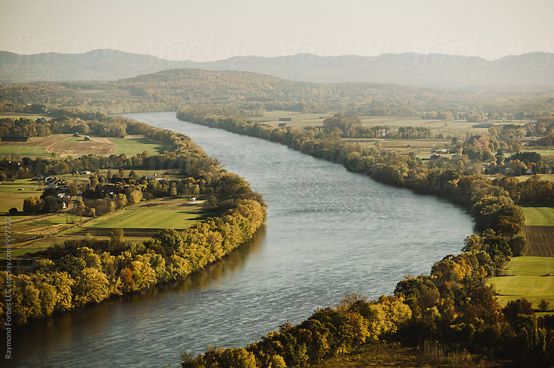 Connecticut River  in Autumn Season   by Raymond Forbes LLC for Stocksy United