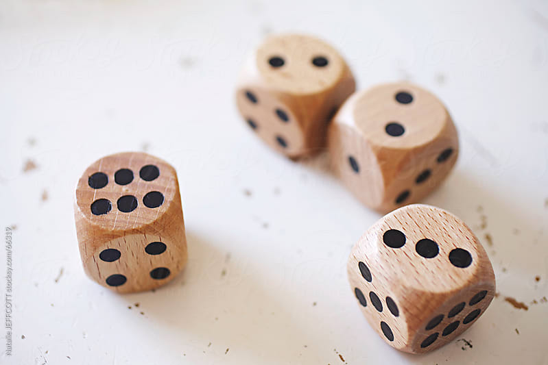 wooden dice by Natalie JEFFCOTT for Stocksy United
