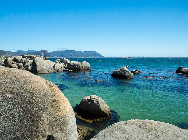 Boulders Beach South Africa with rocks in foreground by DV8OR for Stocksy United