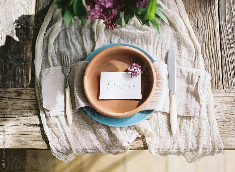 Rustic Table Setting by Julia Kaptelova for Stocksy United