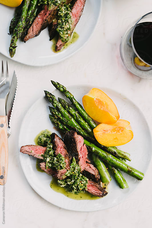 Chimichurri Skirt Steak by Cameron Whitman for Stocksy United