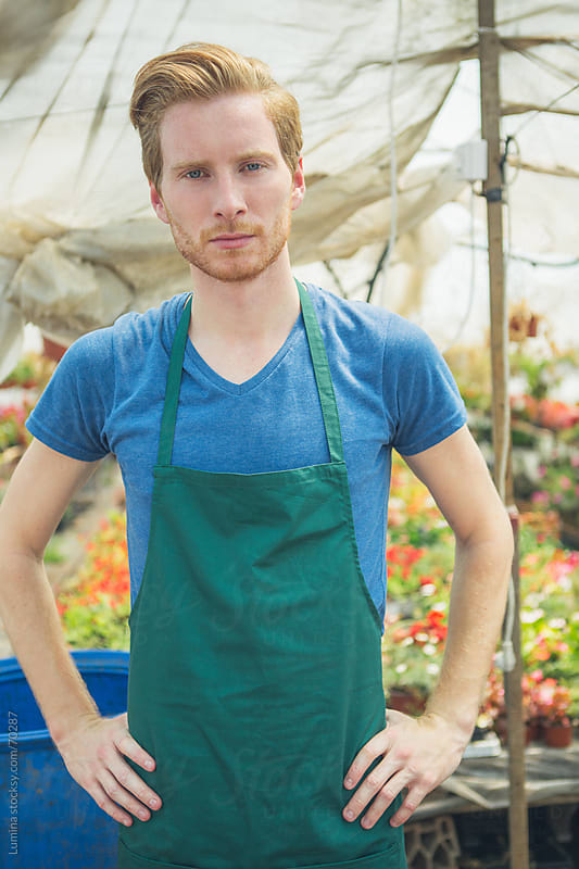 Portrait of a Nursery Garden Worker by Lumina for Stocksy United