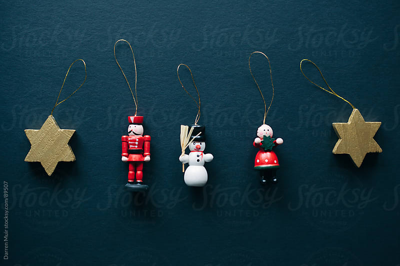 Wooden christmas ornaments. by Darren Muir for Stocksy United