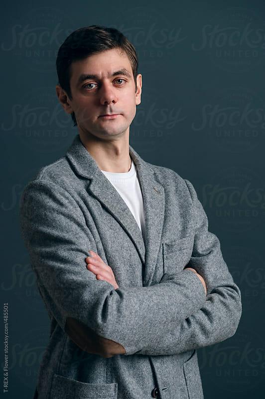 Business man portrait by Danil Nevsky for Stocksy United