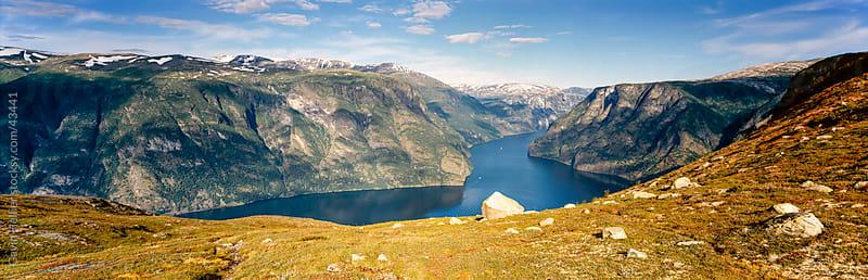 Norway, Sogn og Fjordane, Aurlandsfjord by Gavin Hellier for Stocksy United