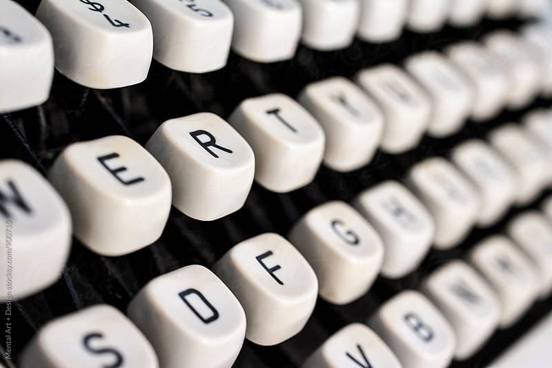 Type Writer Keys by Mental Art + Design for Stocksy United