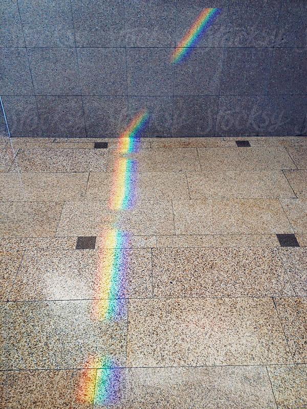Rainbow on the wall and floor. by Liubov Burakova for Stocksy United