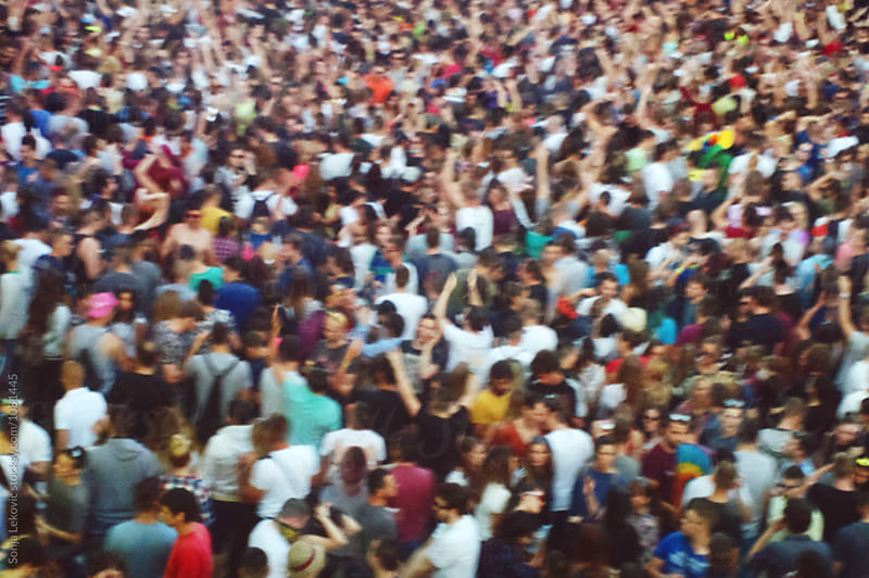 crowd of people in blur by Sonja Lekovic for Stocksy United