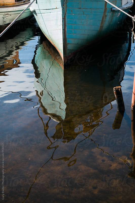 Boat reflection by Gary Radler Photography for Stocksy United