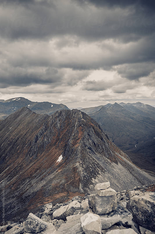 Dramatic mountain scenery in the scottish highlands by Leander Nardin for Stocksy United