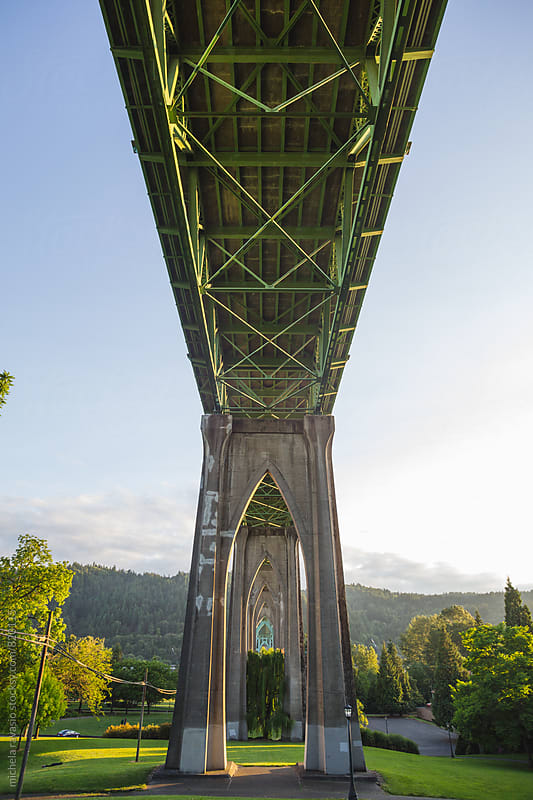 St. Johns bridge in Portland by michela ravasio for Stocksy United
