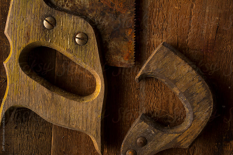 Old Rusty Handsaws by Studio Six for Stocksy United