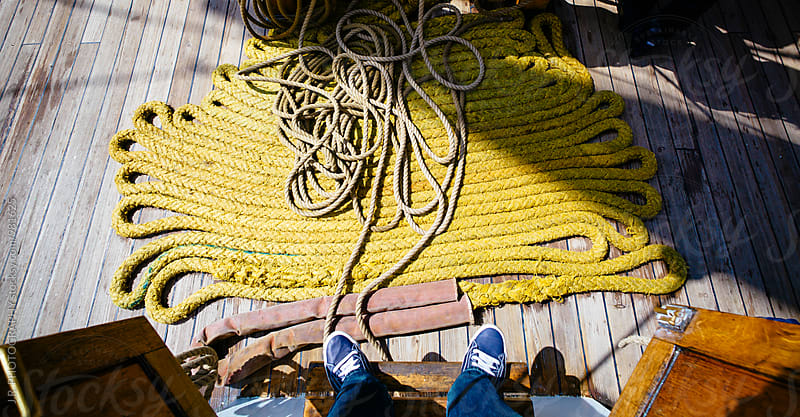 Rope on deck by J.R. PHOTOGRAPHY for Stocksy United