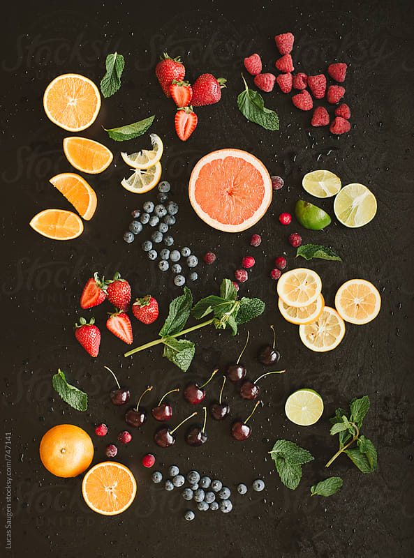 Fruits background by Lucas Saugen for Stocksy United