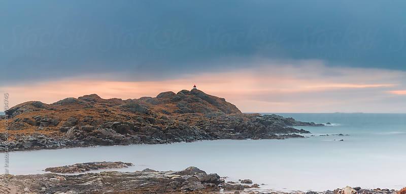 Norwegian coast at sunset by Marilar Irastorza for Stocksy United