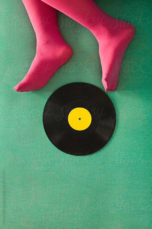 Vibrant vinyl concept by Jelena Jojic Tomic for Stocksy United