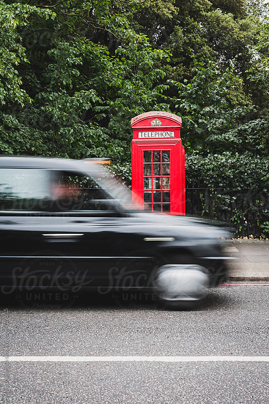 A telephone box in London by Mauro Grigollo for Stocksy United