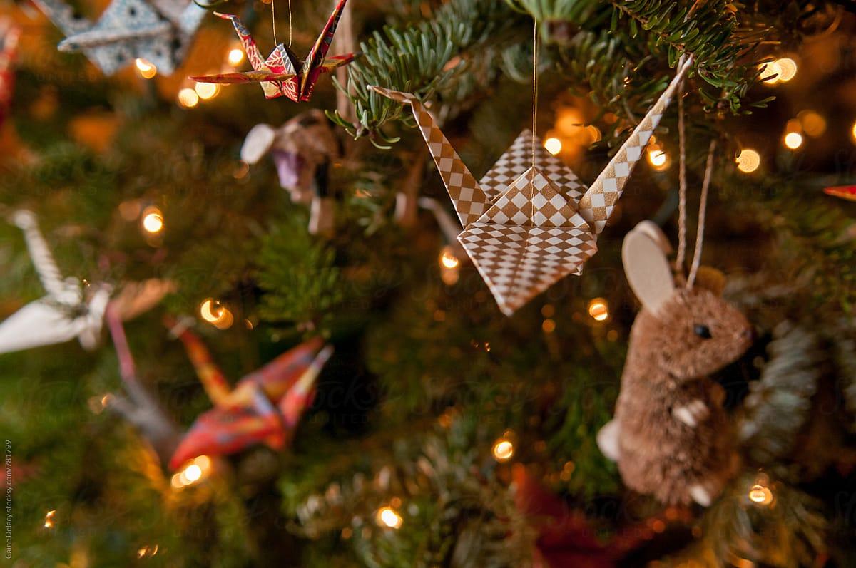 Christmas Tree Paper Cranes   Stocksy United