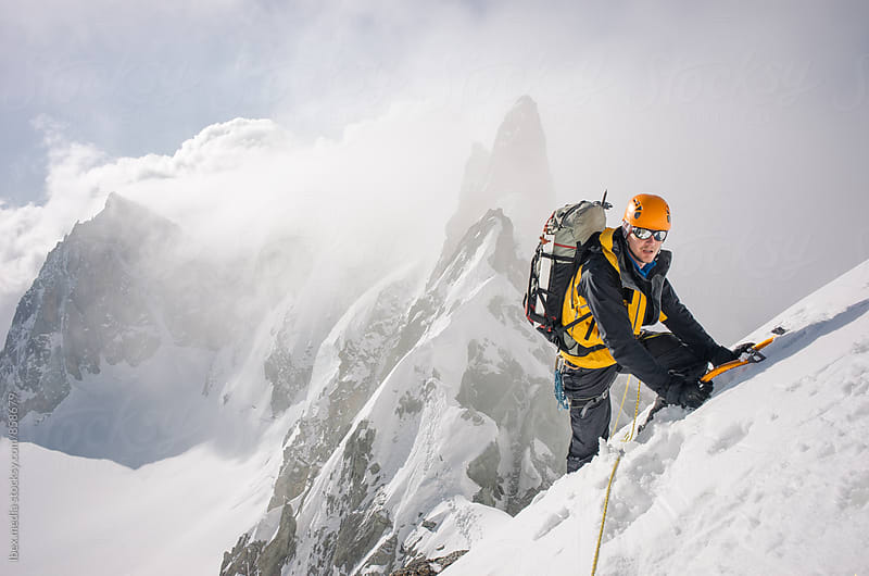 Mountaineer on high mountain expedition by RG&B Images for Stocksy United