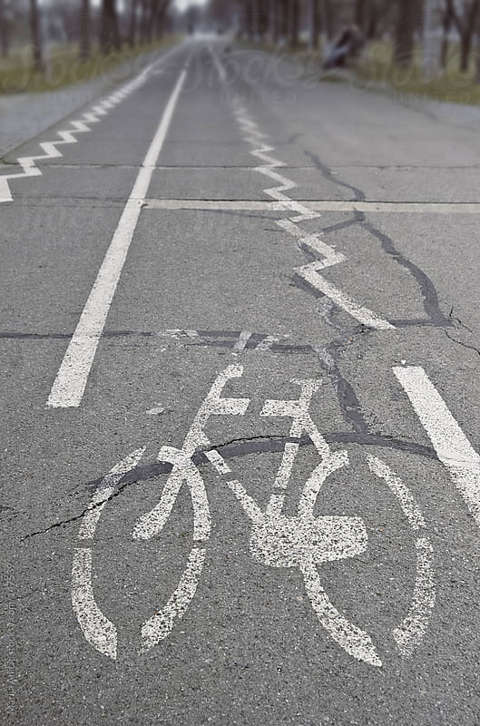 Bikeway,Path for bicycles by Marija Anicic for Stocksy United