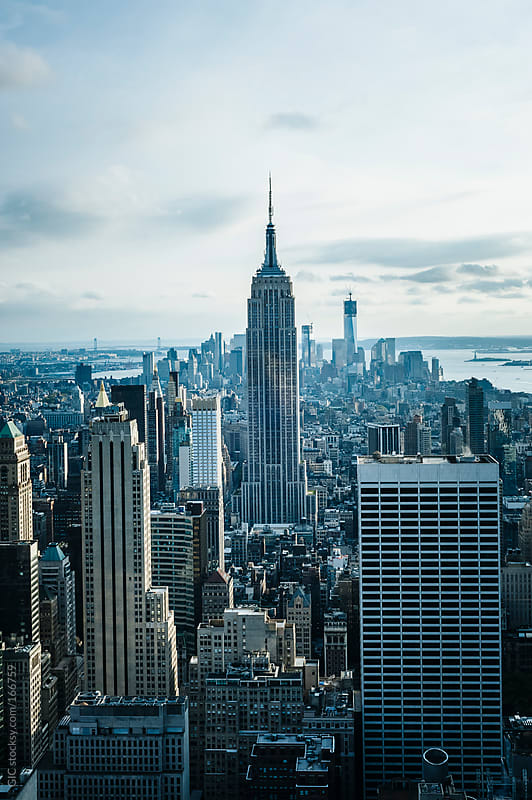 New York City skyline with Empire State Building by GIC for Stocksy United