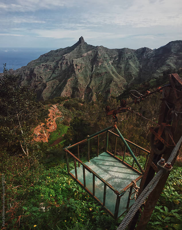 tenerife ropeway by Paul Schlemmer for Stocksy United