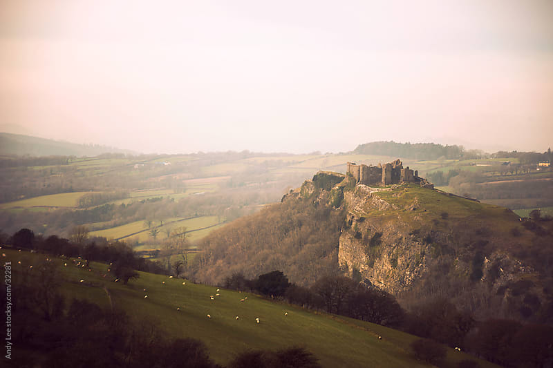 Carreg Cennen Castle by Andy Lee for Stocksy United