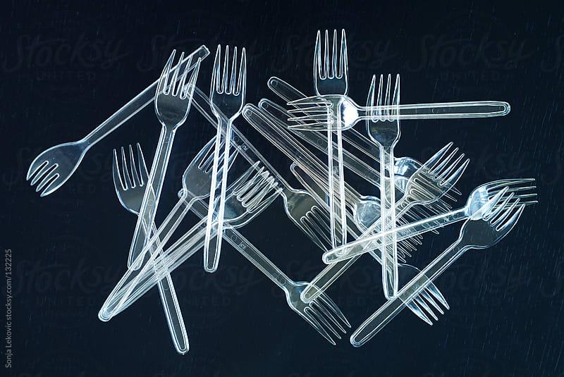 plastic forks by Sonja Lekovic for Stocksy United