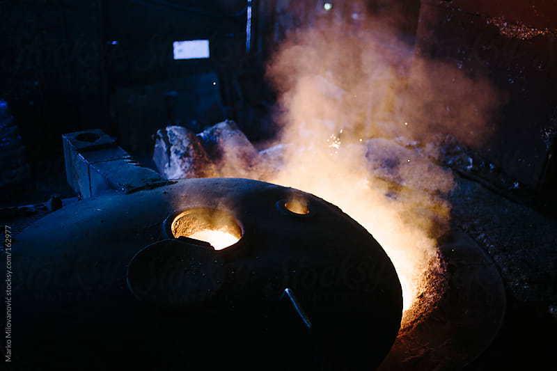 Molten metal vapor by Marko Milovanović for Stocksy United
